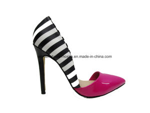 Latest Design Women High Heel Dress Shoe with Pointy Toe pictures & photos