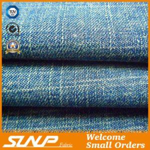 Cotton and Polyester Slub Denim Fabric for Garment