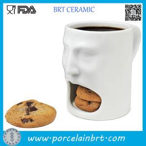 White Face Shape Ceramic Cookie Mug pictures & photos