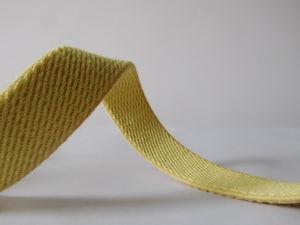 20mm Yellow Aramid Fiber Elastic Webbing for Fireproof Helmet pictures & photos