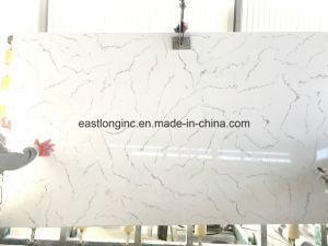 Carrara White Artificial Quartz Slab with 2 Cm, 3cm Thickness pictures & photos