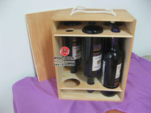 Wood Wine Box for Gift, Six Bottle Wood Wine Box pictures & photos