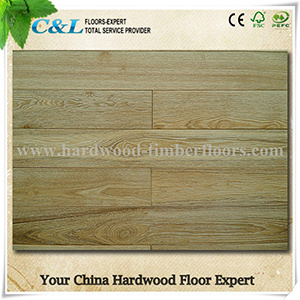 Wire Brushed Oak Wood Flooring pictures & photos