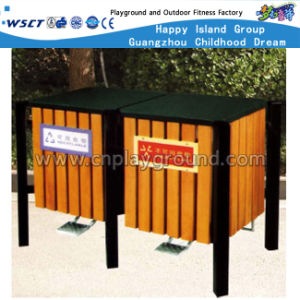 Outdoor Wooden Trash Can Public Waste Bin for Sale (HD-18105) pictures & photos