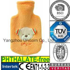 CE Bear Hot Water Bottle Fleece Cover