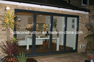 Aluminum Folding Doors Interior with Glass with As2208 Double Glazing Glass pictures & photos