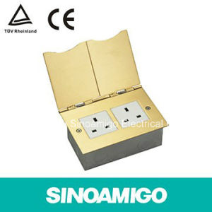 Brititsh-Type Mudular Jack Modular-Disigned Multifunctional Tamper Resistanct Floor Socket Box pictures & photos