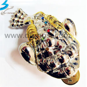 Investment Casting Craft Jewelry Golden Stainless Steel Toad pictures & photos