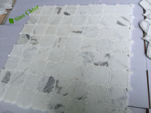 Marble Pattern Water-Jet Marble Mosaic for Bathroom pictures & photos