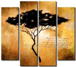 Handmade Landscape Oil Painting Tree on Canvas (LA4-051) pictures & photos