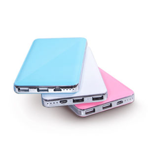 8000mAh Small Light Slim Dual USB Power Bank pictures & photos