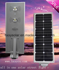 70W Energy Saving All in One LED Solar Street Light with Remote Control pictures & photos