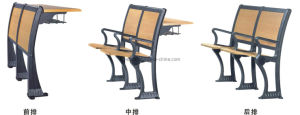 Aluminium Alloy Frame University School Chair Desk (YA-010A) pictures & photos