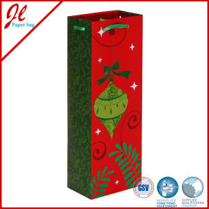 Qualified Custom Paper Bags for Wine Bottle with Handle From Factory pictures & photos