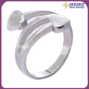 New Trend Fashion Jewelry Stainless Steel Heart Ring