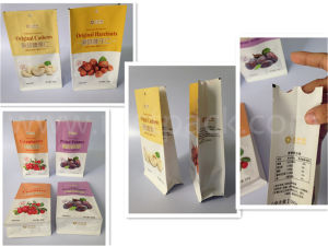 Laminated Paper Flat Bottom Packaging Bag for Dry Fruit pictures & photos