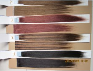 100% European Remy PU Skin Tape Weft Hair Extension pictures & photos