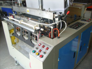 Two Lines Heat Sealing Heat Cutting PE Plastic Bag Making Machine pictures & photos