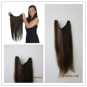 Wholesale 100% Human Hair Flip in Hair Extensions, Halo Hair Extensions, Taria Hair Extensions pictures & photos