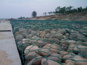 PVC Gabion Mesh Retaining Wall pictures & photos