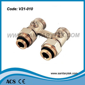 Two-Pipe Straight Panel Radiators Valve (V21-010) pictures & photos