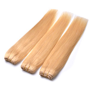 Silky Straight Peruvian Blonde Virgin Hair Weave 3 Bundles Color #1- #27 Honey Blonde Peruvian Straight Human Hair Extension pictures & photos