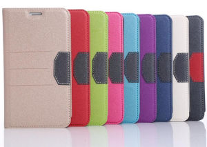 Mango Flip Stand Card Leather Case Cover for Apple iPhone Mobile Phone pictures & photos