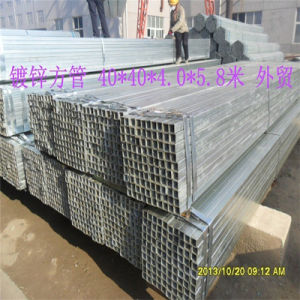 Square and Rectangular Hot Dipped Galvanized Steel Hollow Section pictures & photos