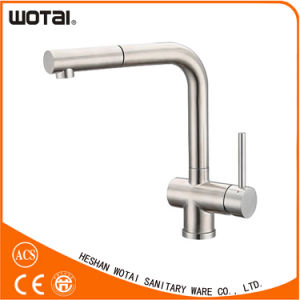 (WT1035BN-KF) Single Lever PVD Finished Kitchen Faucet pictures & photos