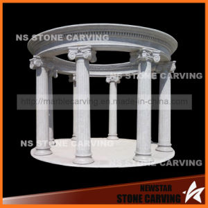 Grey Sesame Natural Granite Gazebo with Simple Columns pictures & photos
