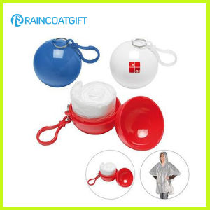 Disposable PE Rain Poncho Ball Rvc-104 pictures & photos