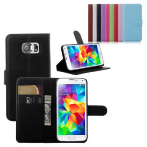 Standable Leather Flip Cell Mobile Phone Case for S6 pictures & photos