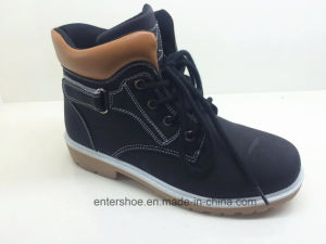 Leather PU Women Casual Ankle Boots with Shoelace (ET-XK160359W)
