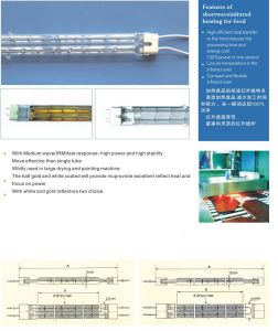 Twin Tube Heating Element Electrical Heater Quartz Halogen Heating Lamp Carbon Fiber Heating Element Heating Tube pictures & photos