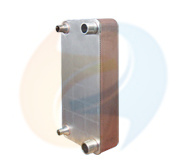 Stainless Steel 316 Plates Copper Brazed Plate Heat Exchanger for Chiller Evaporator