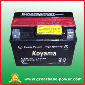 Ytx4l-Bs 3ah 12V Flooded Lead Acid Motor Battery pictures & photos