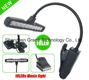 10 LED White Light Music Stand Clip Stand (ML-10) pictures & photos