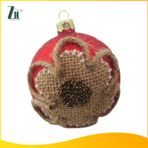 Hand Blown Glass Christmas Ball Craft with Flower pictures & photos