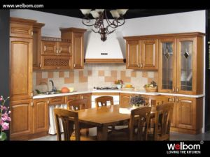 2015 [ Welbom ] American Style Timber Kitchen Cabinet pictures & photos