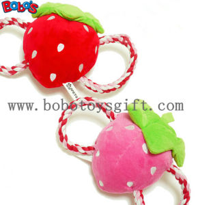 Squeaky Stuffed Pet Toy Plush Strawberry Cotton Rope Toy Bosw1069/15cm pictures & photos