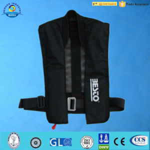 New Style 150n Manual&Automatic Inflatable Life Jacket with Neoprene Neck (DH-047)