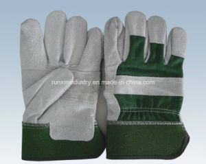 Cow Split Leather Working Gloves 1103 pictures & photos