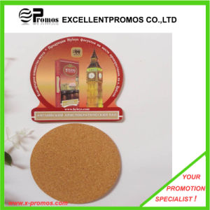 Customized Logo Printed Top Quality Cork Coaster (EP-C8270B) pictures & photos