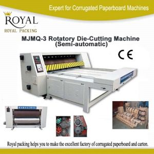 Paperboard Cutting Machine Semic-Auto Rotatory Die-Cutting Machine pictures & photos