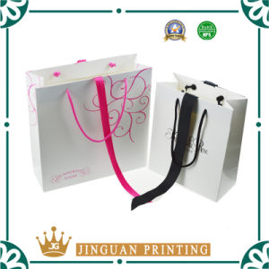 2016 New Design Custom Paper Gift Bag with Ribbon