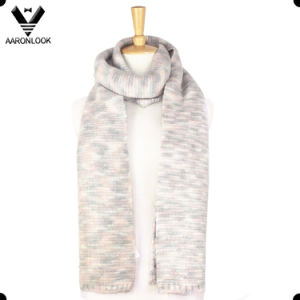 2016 New Multicolor Space Dyed Yarn Knitted Long Scarf pictures & photos