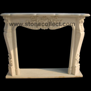 Carved White Marble Fireplace Mantle pictures & photos