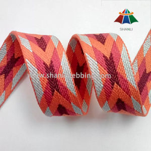Colorful Polyester Cotton Jacquard Patterned Webbing pictures & photos