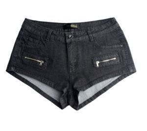 Factory Summer High Quality Fashion Spandex Black Latest Women′s Short Jeans Pants pictures & photos
