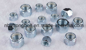 DIN985 DIN 982 Lock Nuts /Unc/Unf White Ring/Blue Ring Class4/Class6/Class8/ Grade2 Nylon Hex Nut (M3-M48) pictures & photos